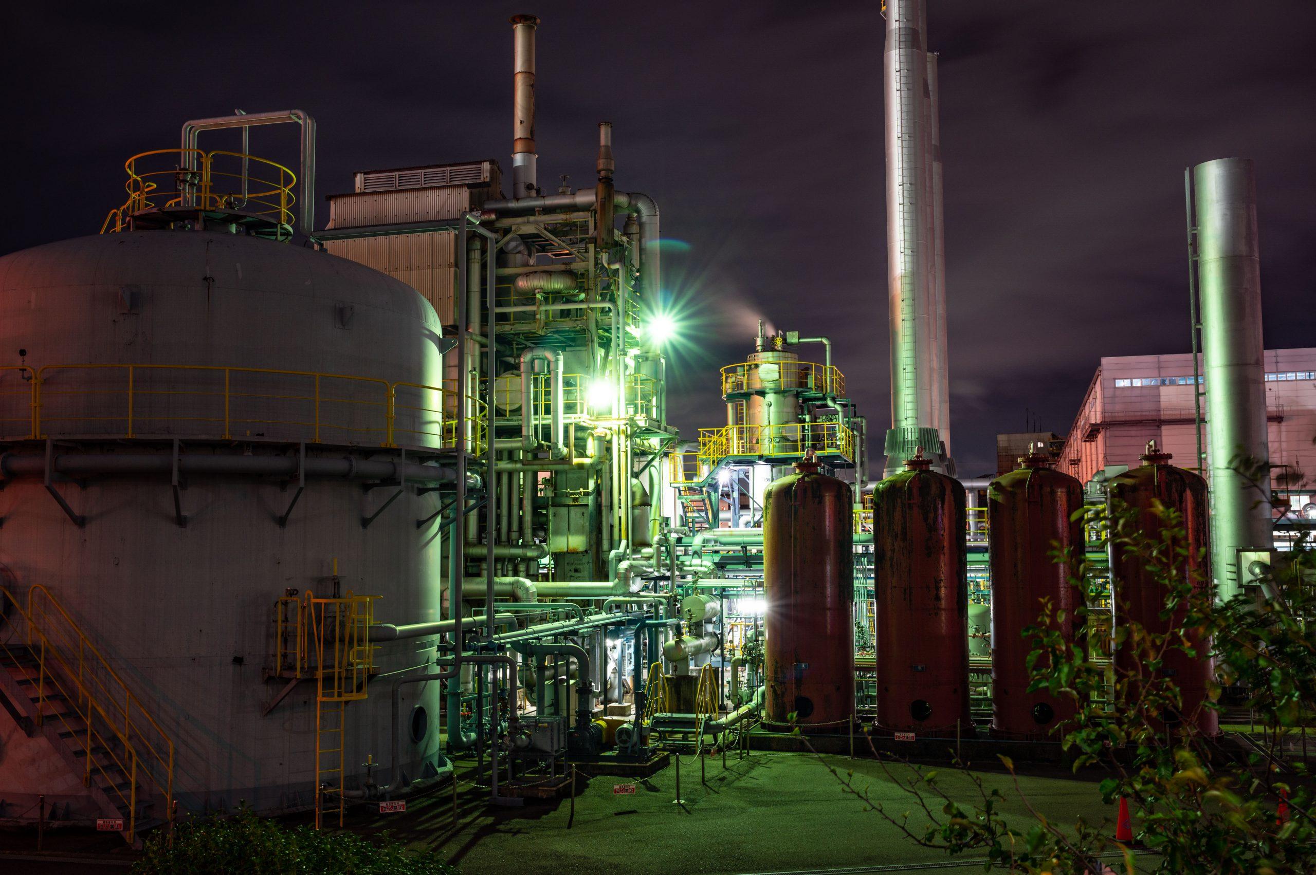 関西熱化学 工場夜景