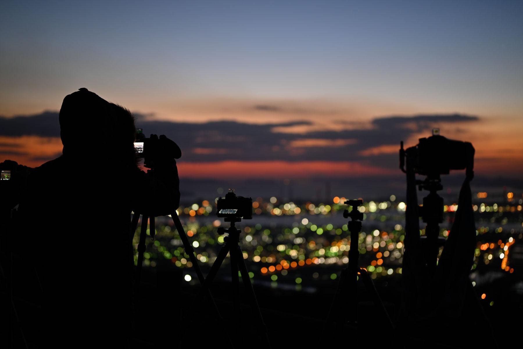 水島コンビナート 夜景