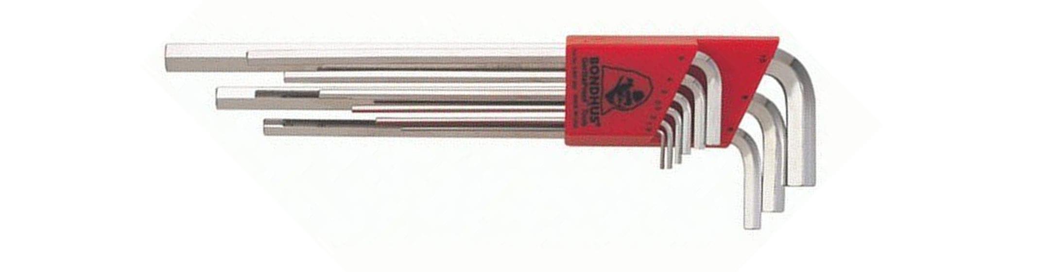 BONDHUS(ボンダス) 六角レンチセット9本組 ミリタイプ HLX9MB